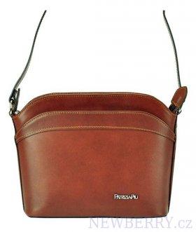 cf841993002d5 Malá hnědá kožená dámská crossbody kabelka : NEWBERRY - velkoobchod ...